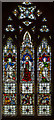 TQ8109 : Stained glass window, Holy Trinity church, Hastings by Julian P Guffogg