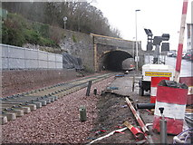 NT4836 : The Borders Railway passes under the A7 by M J Richardson