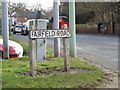 TM4557 : Fairfield Road sign by Adrian Cable