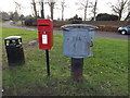 TM4556 : Victoria Road Postbox & Royal Mail Dump Box by Adrian Cable