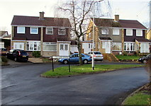 ST3090 : Grass triangle in Pinewood Close, Malpas, Newport by Jaggery