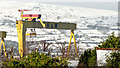 "J3575 : ""Samson"" and snow, Belfast (January 2015) by Albert Bridge"