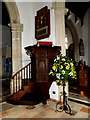 TM4656 : Pulpit of St.Peter & St.Paul's Church by Adrian Cable
