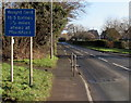 SO5339 : Early warning of a weight limit on the B4224 east of Hereford by Jaggery