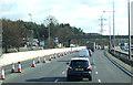 TL0228 : Roadworks on the M1 near Toddington Services by JThomas