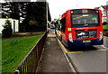 ST2899 : X24 bus at a Sunnybank Road bus stop Griffithstown, Pontypool by Jaggery