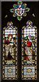 TQ7927 : Stained glass window, St Nicholas' church, Sandhurst by Julian P Guffogg