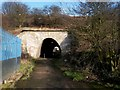 NT9952 : Pedestrian underpass under the railway, Tweedmouth by Graham Robson
