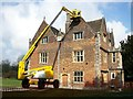 TF0919 : Repairing earthquake damage to the Red Hall, Bourne, Lincolnshire by Rex Needle
