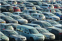 NT1473 : A Carpet of Cars by Anne Burgess