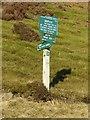 SK0588 : Peak and Northern Footpaths Society sign, Kinder Reservoir by Dave Dunford