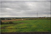 SK1409 : Farmland by the West Coast Main Line by N Chadwick