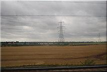 SK1409 : Pylon in a field by N Chadwick
