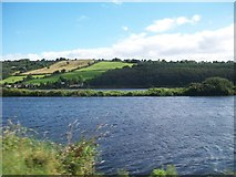 J1022 : View across the Newry Canal to the Newry River and the A2 by Eric Jones