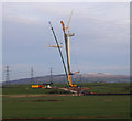 SD4359 : Heysham South wind farm construction by Ian Taylor