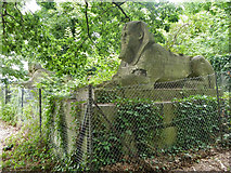 TQ3370 : Sphinxes, Crystal Palace Park by Robin Webster