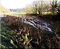 SO5305 : Waterlogged field near Bigsweir Bridge by Jaggery