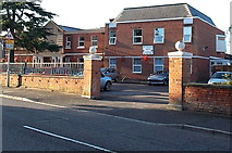 SK4003 : Western entrance to Bosworth Court Nursing Home, Market Bosworth by Jaggery