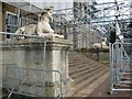 SO8844 : Scaffolding around the steps, Croome Court by Philip Halling