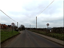 TM4159 : Entering Friston on the B1121 Aldeburgh Road by Adrian Cable