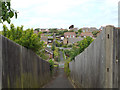 TQ4700 : Footpath between Carlton Road and Clementine Avenue, Seaford by Robin Stott