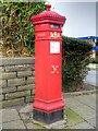 SD7916 : Bridge Street Victorian Pillar Box by David Dixon