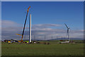 SD4259 : Heysham South wind farm construction by Ian Taylor