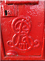 TM4656 : Royal Cypher on the Lee Road Edward VII Postbox by Adrian Cable