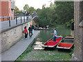 TL4458 : Punts for hire by Garret Hostel Bridge by Hugh Venables
