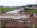 SX9291 : Exeter flood channel works by Chris Allen
