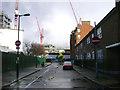 TQ3278 : Looking east on Larcom Street to the Trafalgar Place development, Walworth by Robin Stott