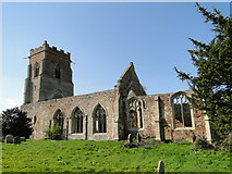 TF6013 : Wiggenhall St. Peter's ruined church by Adrian S Pye