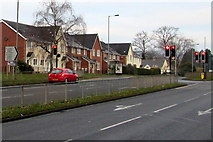 ST3091 : Turn right here for St Joseph's Hospital, Malpas, Newport by Jaggery