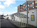 TQ2863 : Cycle racks at Wallington station by Stephen Craven
