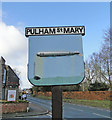 TM2185 : Pulham st. Mary village sign by Adrian S Pye