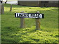 TM4557 : Linden Road sign by Adrian Cable