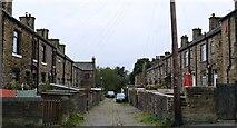 SE1527 : Terrace backs, Upper Wyke by Bobby Clegg