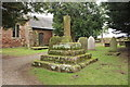 SJ4350 : Medieval Cross, St Edith's, Shocklach by Jeff Buck