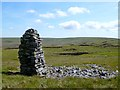 NY7132 : Cairn on Great Dun Fell, Milburn by Andrew Smith