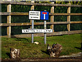 TM4558 : Warren Hill Lane sign by Adrian Cable