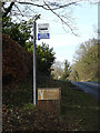 TM4459 : Bus Stop & Birch Tree Lodge sign by Adrian Cable