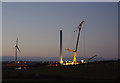 SD4360 : Heysham South wind farm construction by Ian Taylor