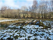 NS4275 : WWII remains near Middleton Farm by Lairich Rig