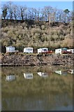SO8346 : Caravens reflected in the River Severn by Philip Halling