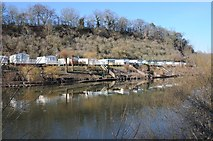 SO8346 : Caravans reflected in the River Severn by Philip Halling