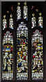 TF0207 : Stained glass window, St John the Baptist church, Stamford by Julian P Guffogg