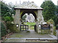 SW8765 : Lych gate at the church of St Mawgan-in-Pydar, St Mawgan by Ruth Sharville