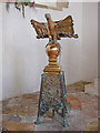TG3631 : Brass lectern with a War Memorial at the base by Adrian S Pye