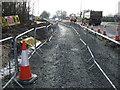 TA0441 : Temporary cycle path beside Hull Bridge Road (A1035) by JThomas