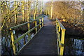 TA0323 : Footbridge at Water's  Edge Country Park by Ian S